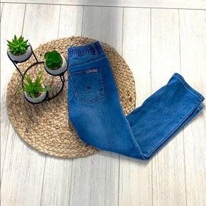 Hudson boys straight leg distressed jeans size 5